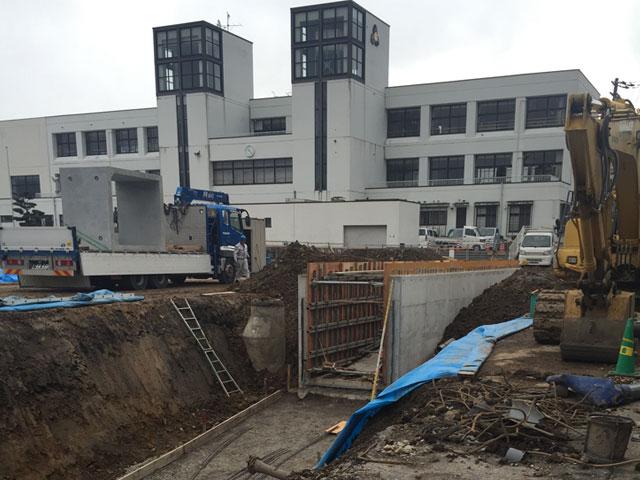 地下道設置工事及び道路改良工事